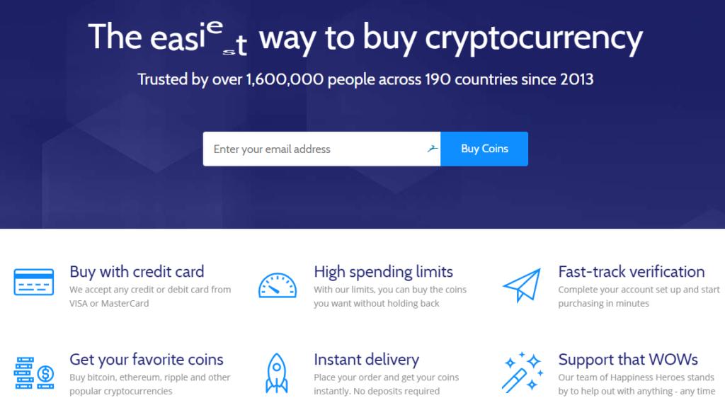 Coinmama homepage