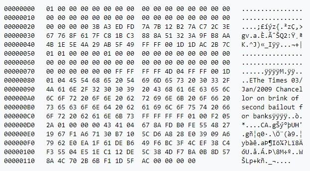 crypto genesis block