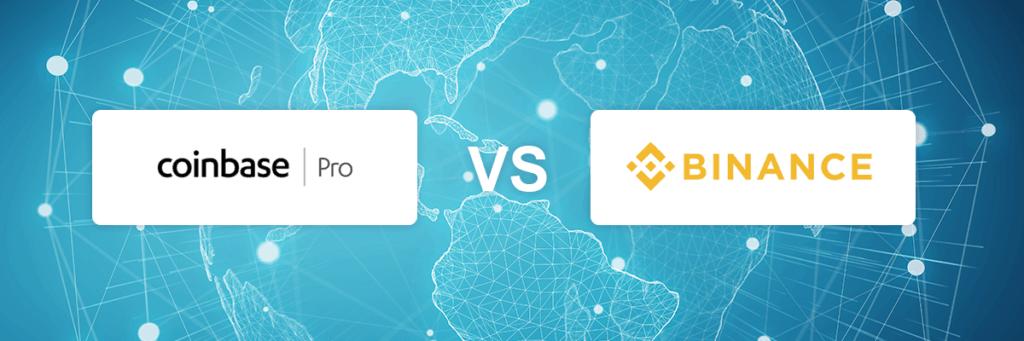 Coinbase Pro vs Binance exchange comparison