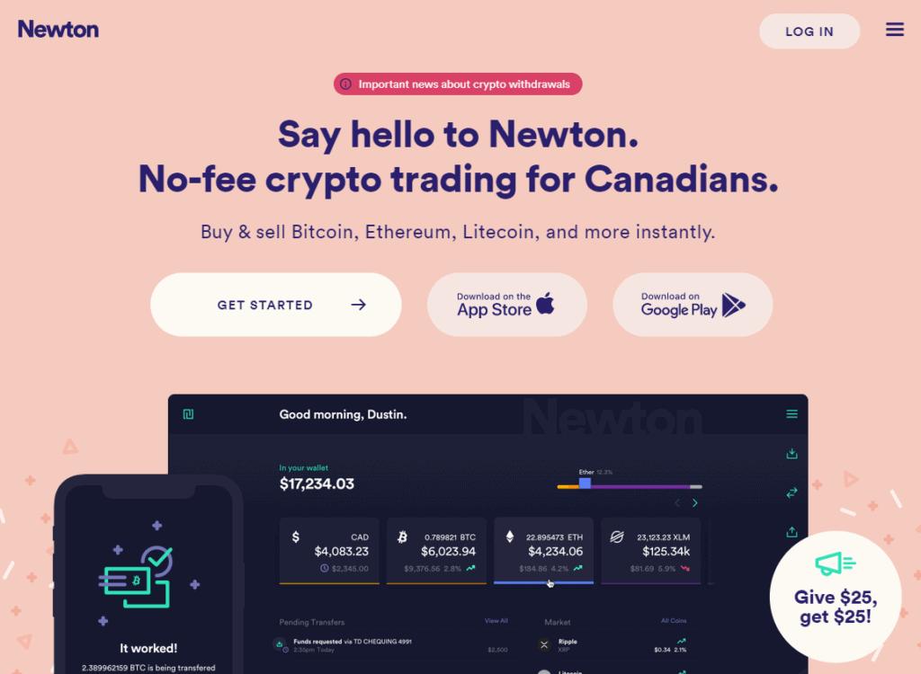 Newton homepage