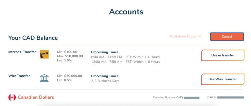 Bitbuy Fund your account