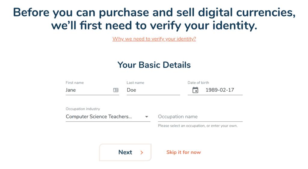 Bitbuy Info verification